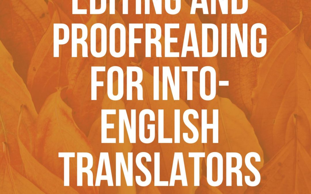 KAREN TKACZYK TEACHING 4-WEEK EDITING AND PROOFREADING CLASS IN APRIL 2021